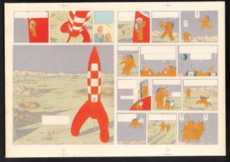 ParisUpdate-Herge-GrandPalais-On a marché sur la lune - 1954 - Hergé