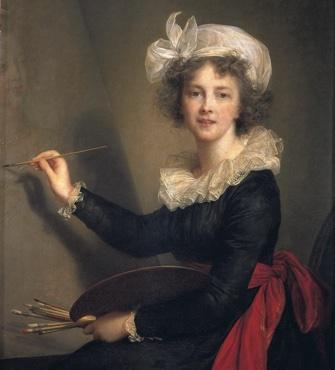 """""""L'Artiste Exécutant un Portrait de la Reine Marie-Antoinette"""" (1790). © Galleria degli Uffizi, Florence, Italy/Bridgeman Images."""