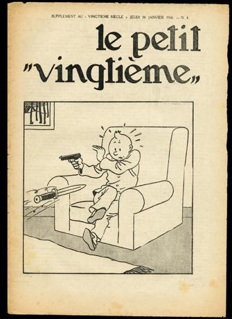 ParisUpdate-Herge-GrandPalais-illus couv oreille cassee - petit vingtième.1936