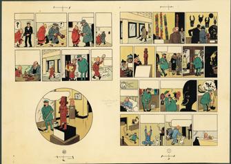 ParisUpdate-Herge-GrandPalais-loreille cassée - Hergé - 1956