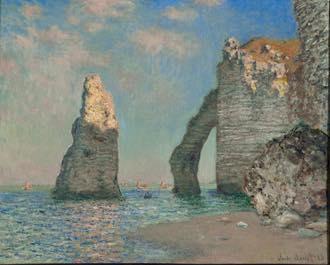 """Claude Monet's """"Les Falaises à Étretat"""" (1885). © Sterling and Francine Clark Art Institute, Williamstown, Massachusetts. Photo: Michael Agee"""