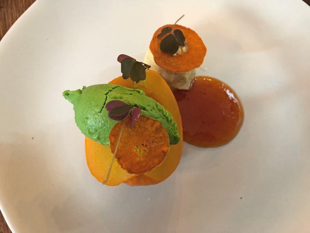 Brute restaurant, Paris, pumpkin dessert