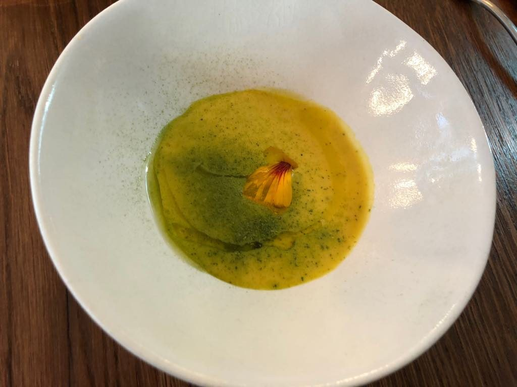 Brute restaurant, Paris, butternut soup