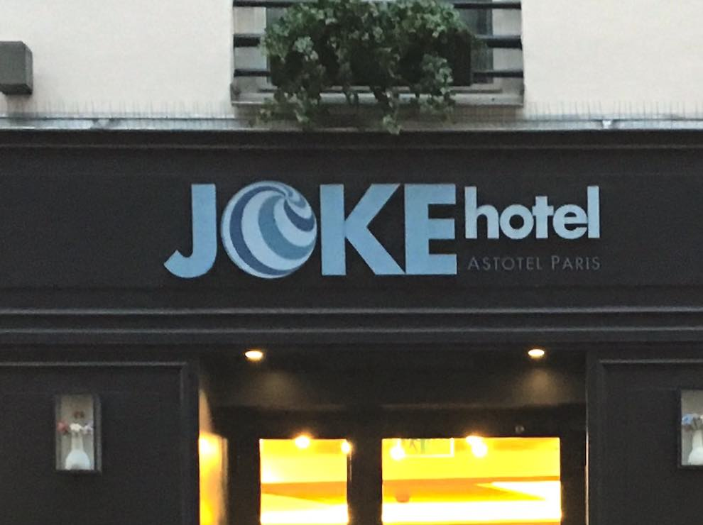 Joke Hotel in Paris, France