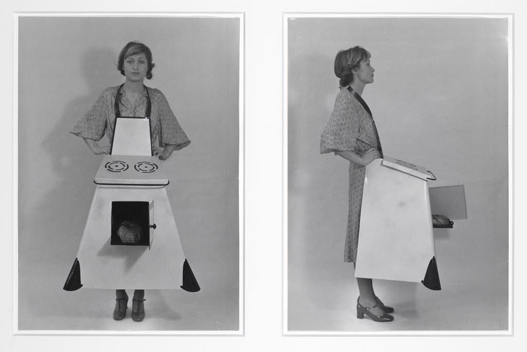 """Housewives' Kitchen Apron"" (1975/2003), by Birgit Jurgenssen."