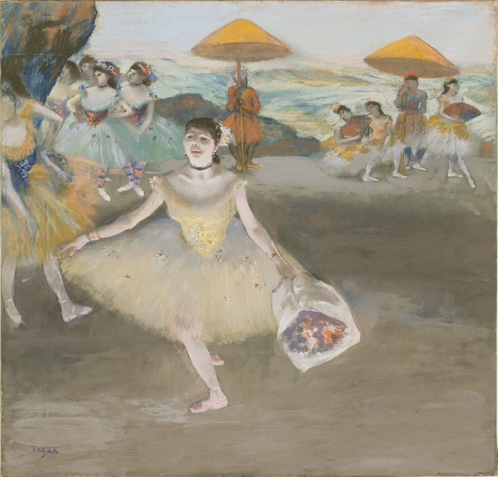 Dancer with bouquet, pastel by Degas, Musée d'Orsay