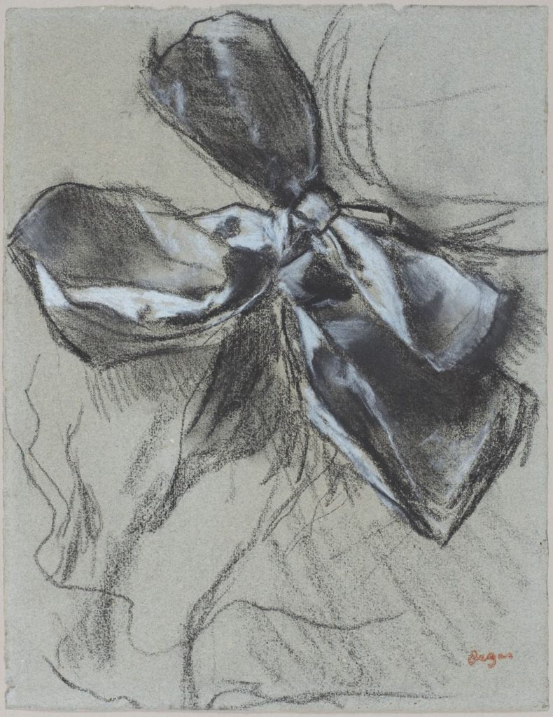 Drawing of a bow (1887) by Edgar Degas, Musée d'Orsay