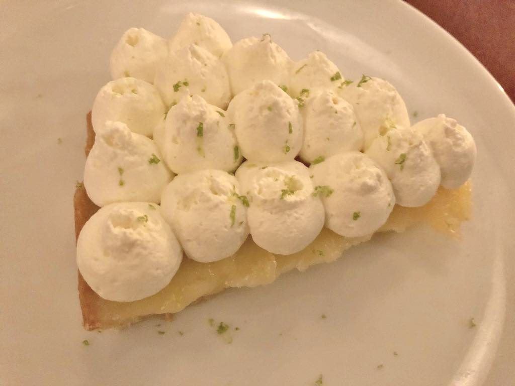 Yacht Club restaurant, Paris, lemon tart