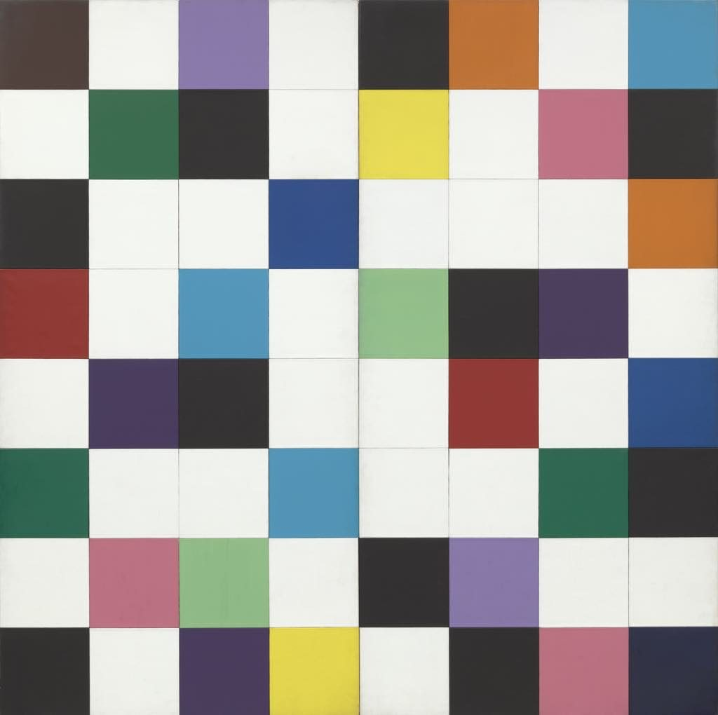 """""""Colors for a Large Wall"""" (1951), Ellsworth Kelly, Being Modern: MoMA in Paris, Fondation Louis Vuitton"""