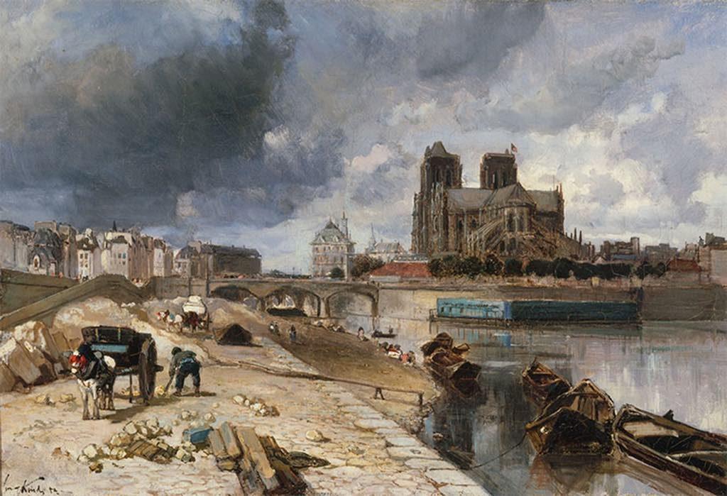 """""""Notre-Dame Vue du Quai de la Tournelle"""" (1852). © Petit Palais/Roger-Viollet"""