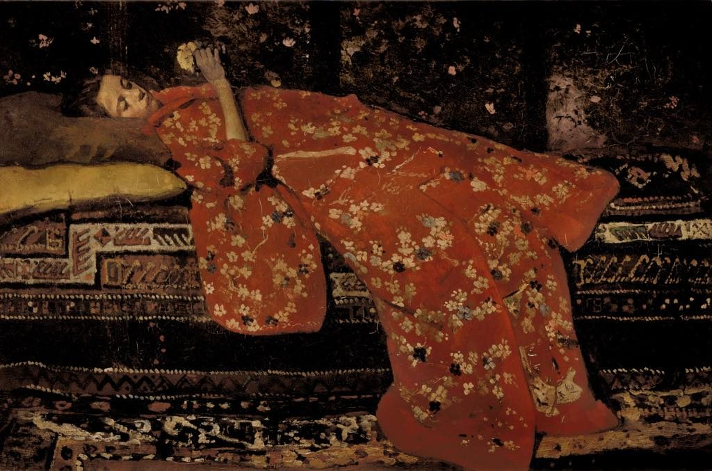 """Le Kimono Rouge"" (1893), by George Hendrik Breitner. © Collection Stedelijk Museum Amsterdam"