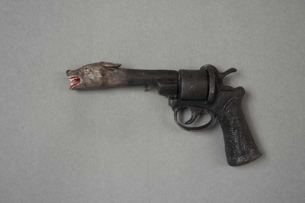 """Ceramic Pistol,"" by Serena Carone. © ADAGP"