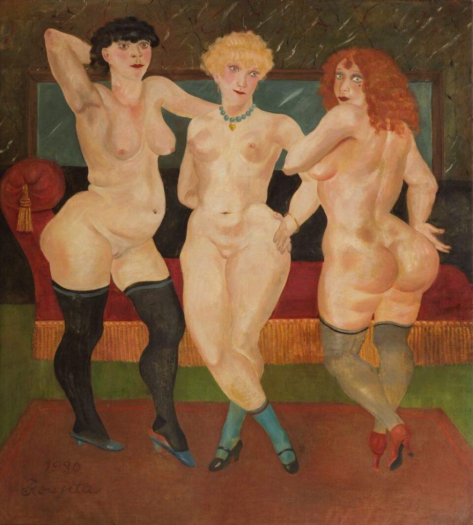 """Trois Femmes"" (1930). © Fondation Foujita / Adagp, Paris, 2018 © Maison-Atelier Foujita. CD Essonne. Photographie Laurence Godart"