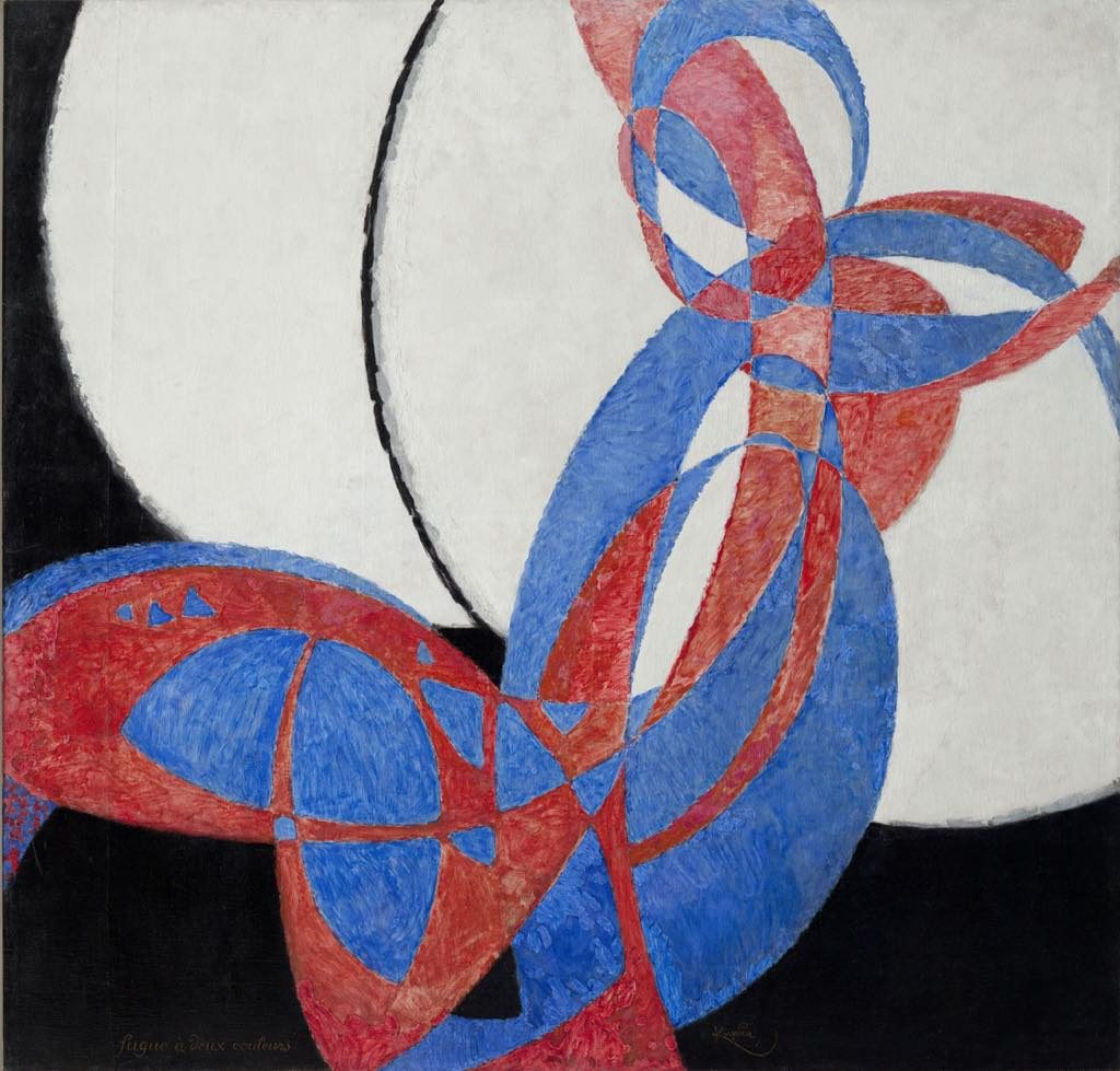 "František Kupka's ""Amorpha, Fugue à Deux Couleurs"" (1912). © Adagp, Paris 2018 © National Gallery in Prague 2018"
