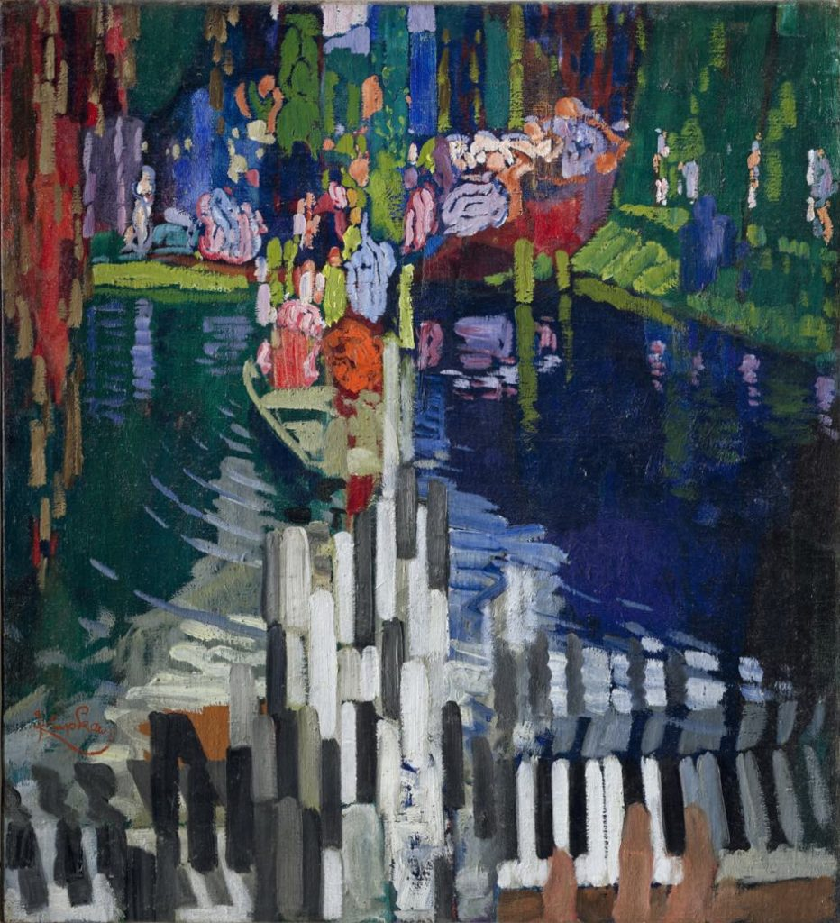 "František Kupka's ""Les Touches de Piano. Le Lac"" (1909). © Adagp, Paris 2018 © National Gallery in Prague 2018"