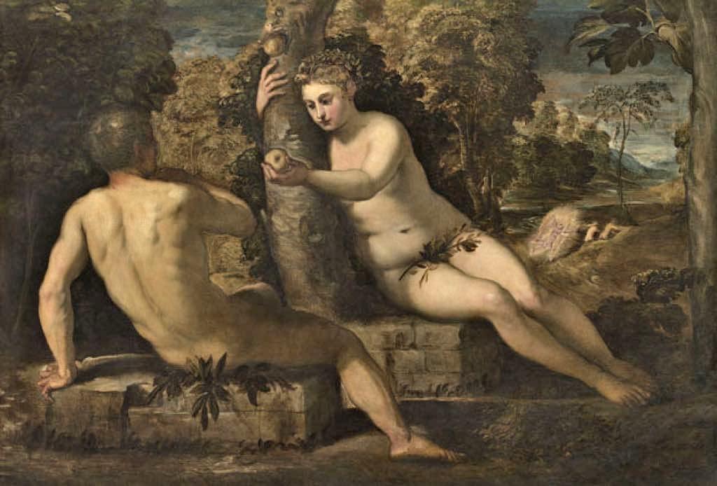 """Tintoretto. """"Original Sin"""" (c. 1551-52) © Archivio fotografico Gallerie dell'Accademia, su concessione del Ministero dei beni e delle attivita culturali e del turismo - Museo Nazionale Gallerie"""