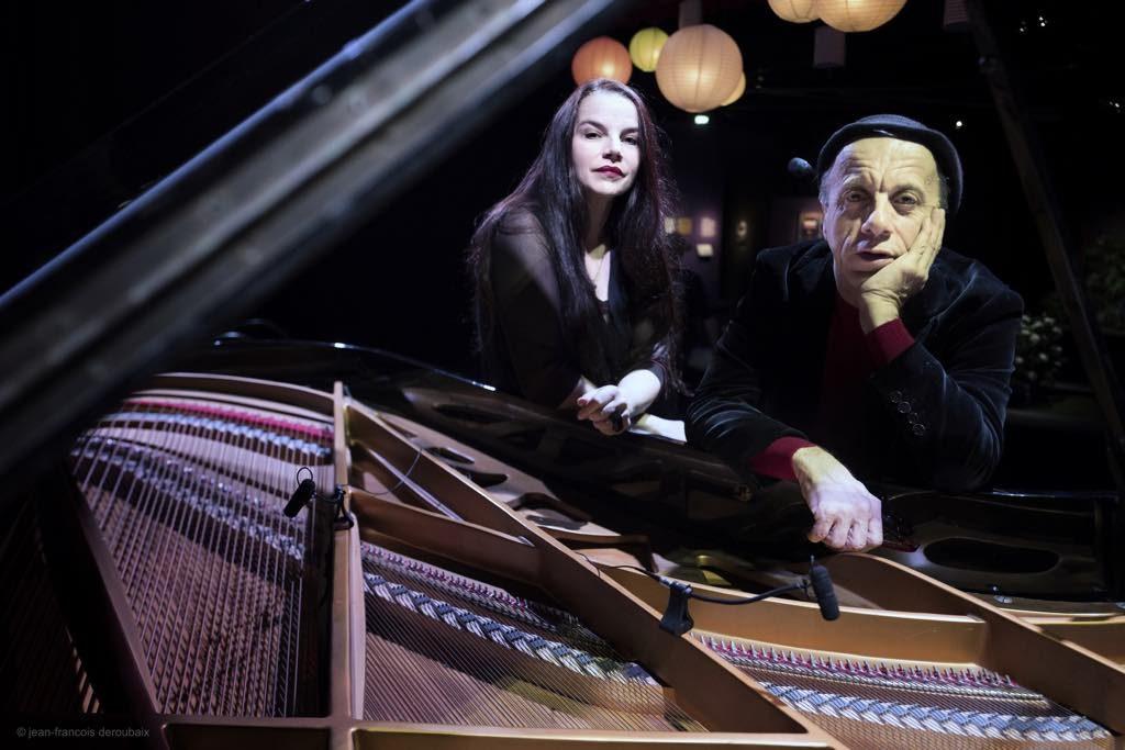Agnès Sighicelli and Patrick Rouquet. Barbara, théâtre du Gouvernail, Paris