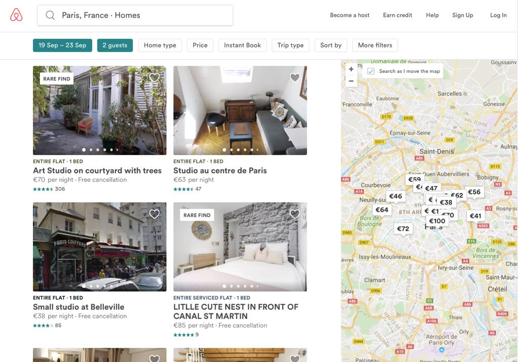 Short-Term Rentals in Paris