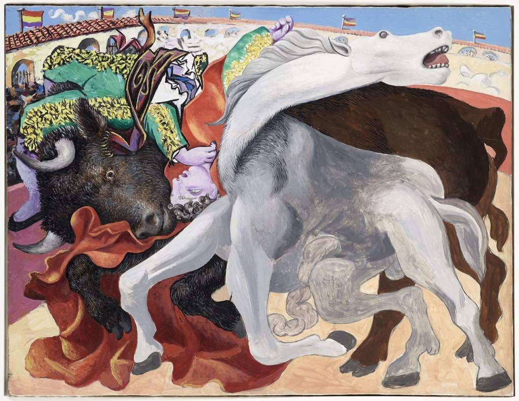 """Picasso's """"Corrida: La Mort du Toréro"""" (1933). © Succession Picasso. Photo: © RMN-Grand Palais (Musée National Picasso-Paris)/Mathieu Rabeau"""