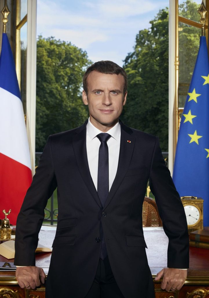 The official portrait of French President Emmanuel Macron. Photo: Soazig de la Moissonnière