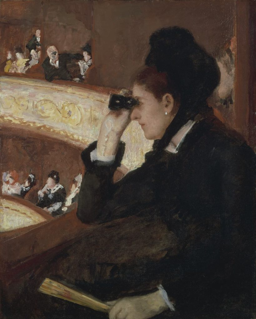 "Mary Cassatt""In the Loge"" (1878). Musee Jacquemart-Andr´. © 2018 Museum of Fine Arts, Boston"