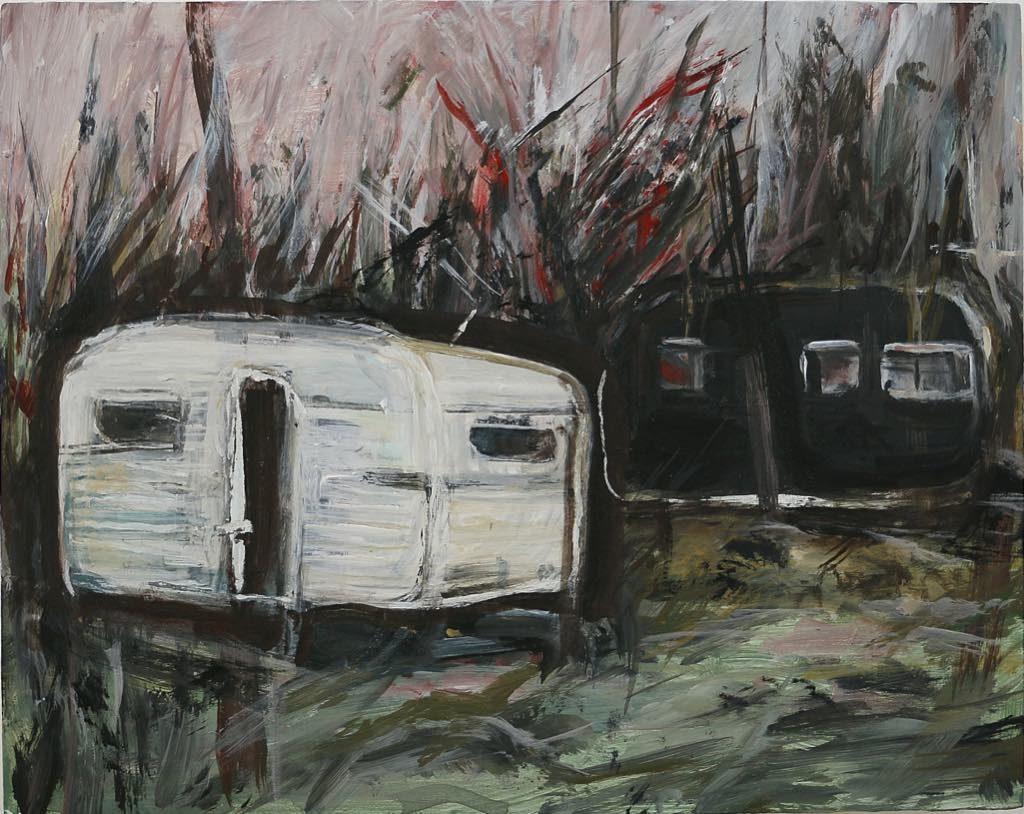 """Caravanes Pyrénéennes"" (2017). Photo © J. Obadia. Musee Jean-Jacques Henner"