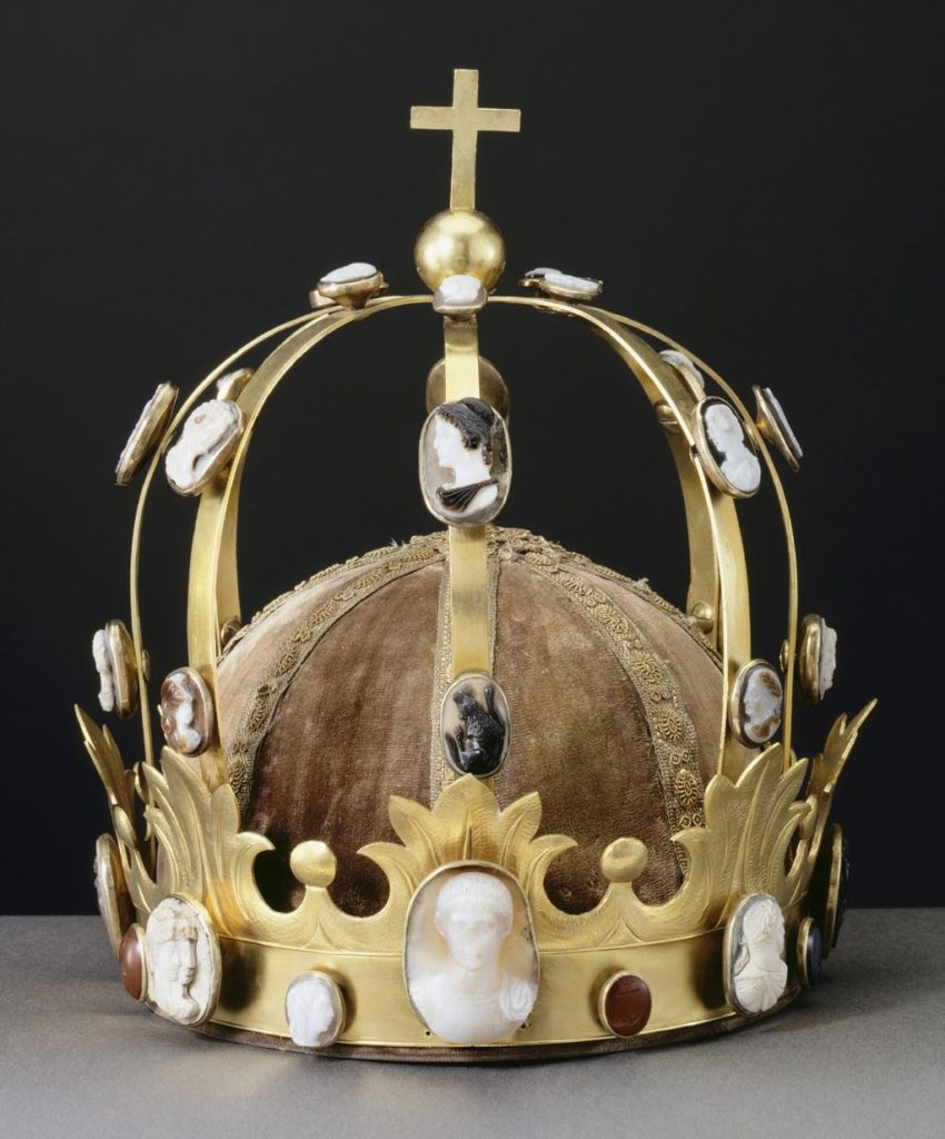 "The ""Charlemagne"" crown, used at Napoleon's coronation on December 2, 1804, made by Martin-Guillaume Biennais. © RMN-Grand Palais (Musée du Louvre) / Jean-Gilles Berizzi"