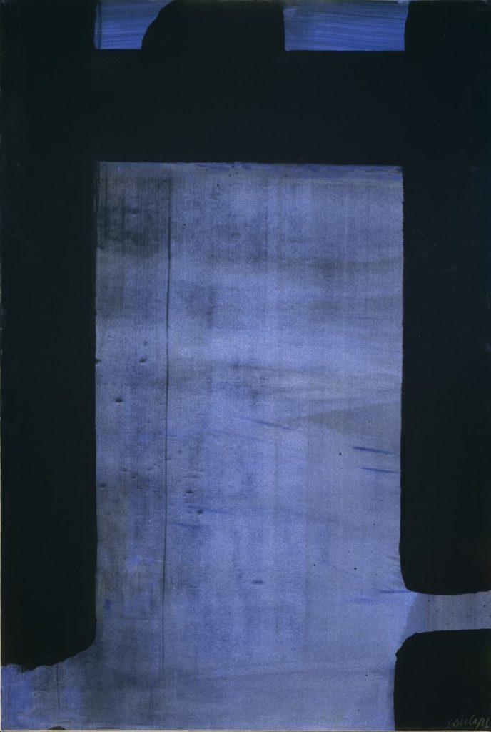 """Soulages, Fondation Gianadda, """"Gouache Vinylique sur Papier 109 x 73 cm, 1977."""