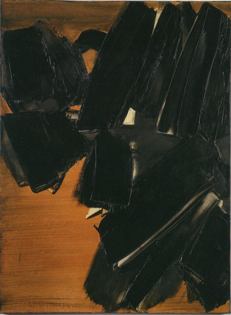 """Soulages, Fondation Gianadda, """"Peinture 81 x 60 cm, 21 Mars 1961"""" © DR © 2018, ProLitteris, Zurich"""