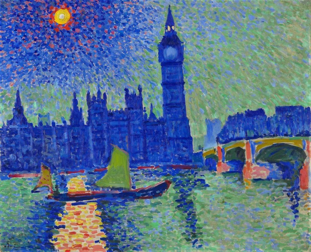 """Impressionists in Paris, petit Palais, """"Big Ben"""" (1906-07), by André Derain. © ADAGP Paris 2018 and DACS London. Photo: Laurent Lecas"""