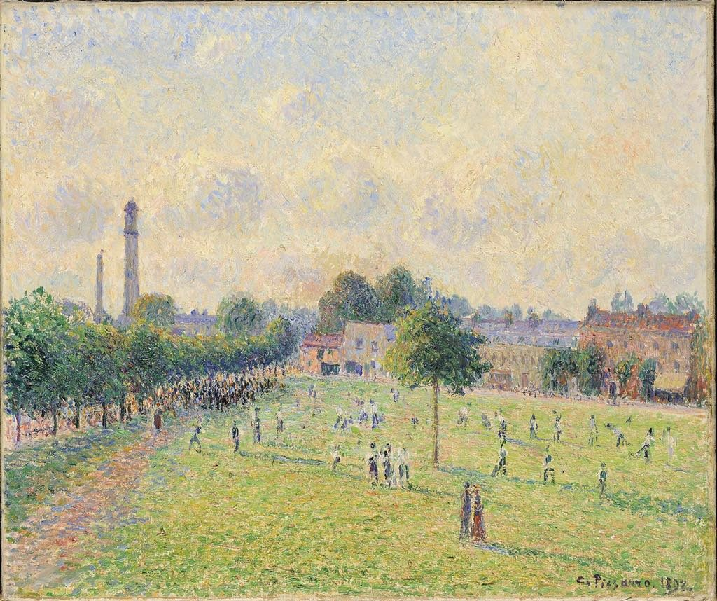 "Impressionists in Paris, petit Palais, ""Kew Green"" (1892), by Camille Pissarro. © Lyon, MBA-Studio Alain Basset"