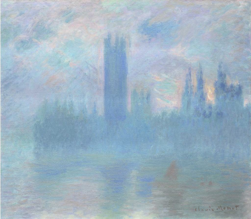 "Impressionists in Paris, petit Palais, ""Houses of Parliament"" (c. 1900-01), by Claude Monet. Photo © The Art Institute of Chicago"
