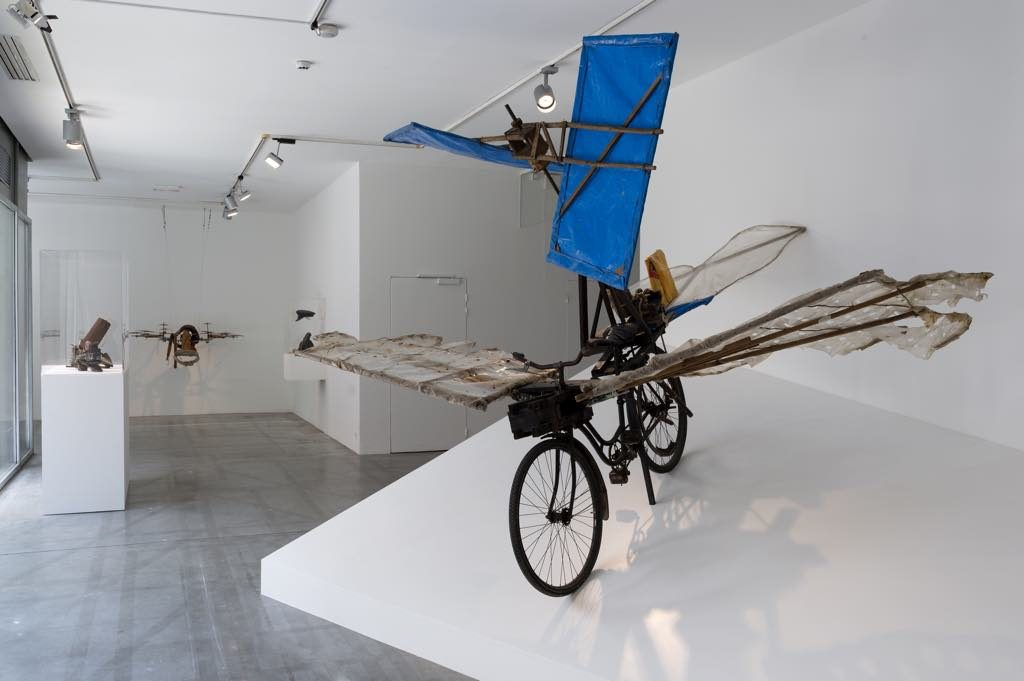 "Gustav Mesmer's ""Bicycle-Helicopter"" (1978). L'Envol, Maison Rouge Paris"
