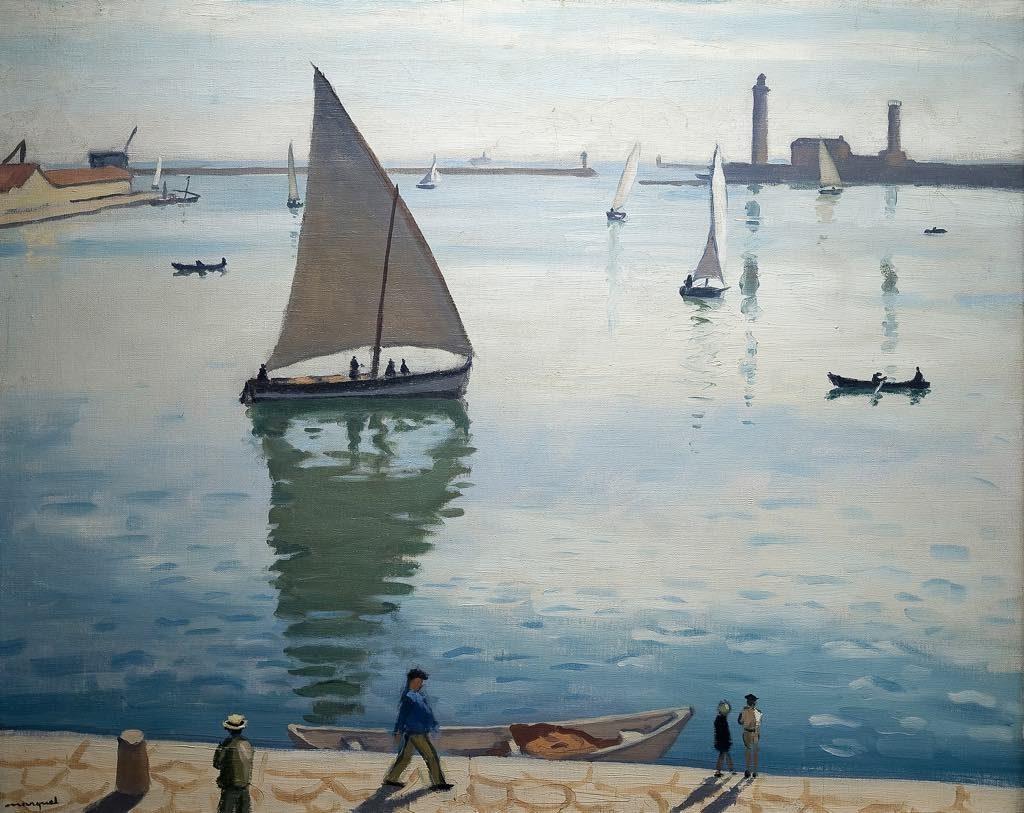 "Albert Marquet's ""Sailboats in Sète"" (1924). © Musée Paul Valéry"