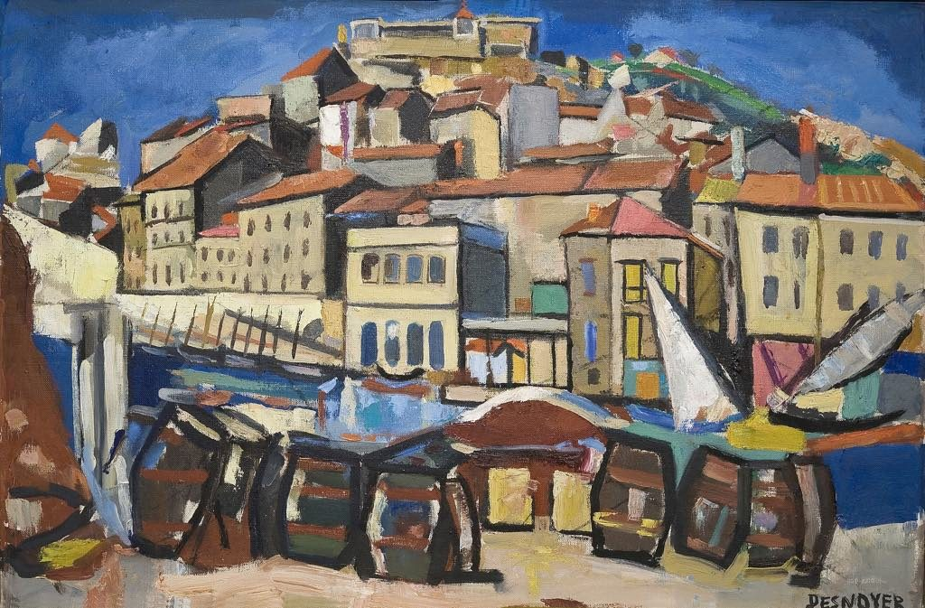 """The Port of Sète"" (1948), by François Desnoyer. © Musée Paul Valéry"