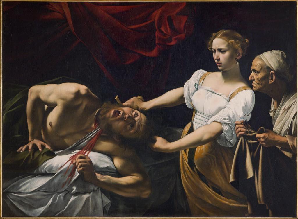 """Caravaggio, Musée Jacquemart-André, """"Judith Beheading Holofernes"""" (c. 1660)."""