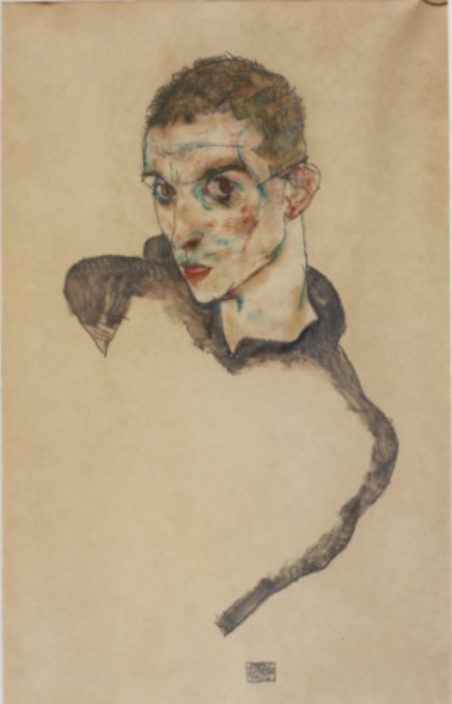 """Self-Portrait"" (1914), by Egon Schiele. Photo © Hadiye Cangókçe"