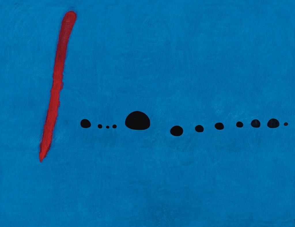 """""""Bleu II"""" (1961) Miró"""