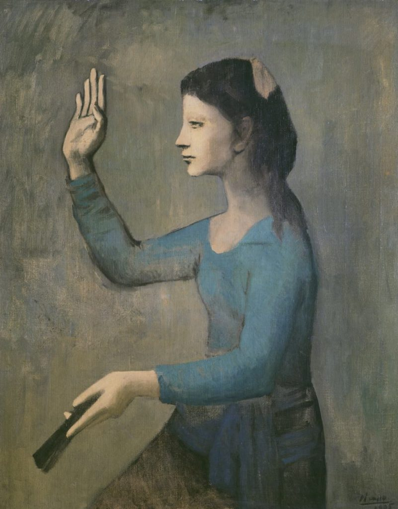 """""""Lady with a Fan"""" (1905). picasso"""