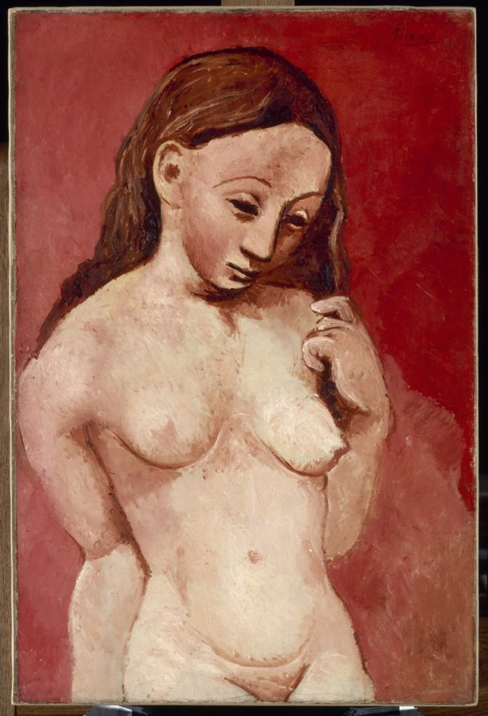 "picasso ""Nude on a Red Background"" (1906)"