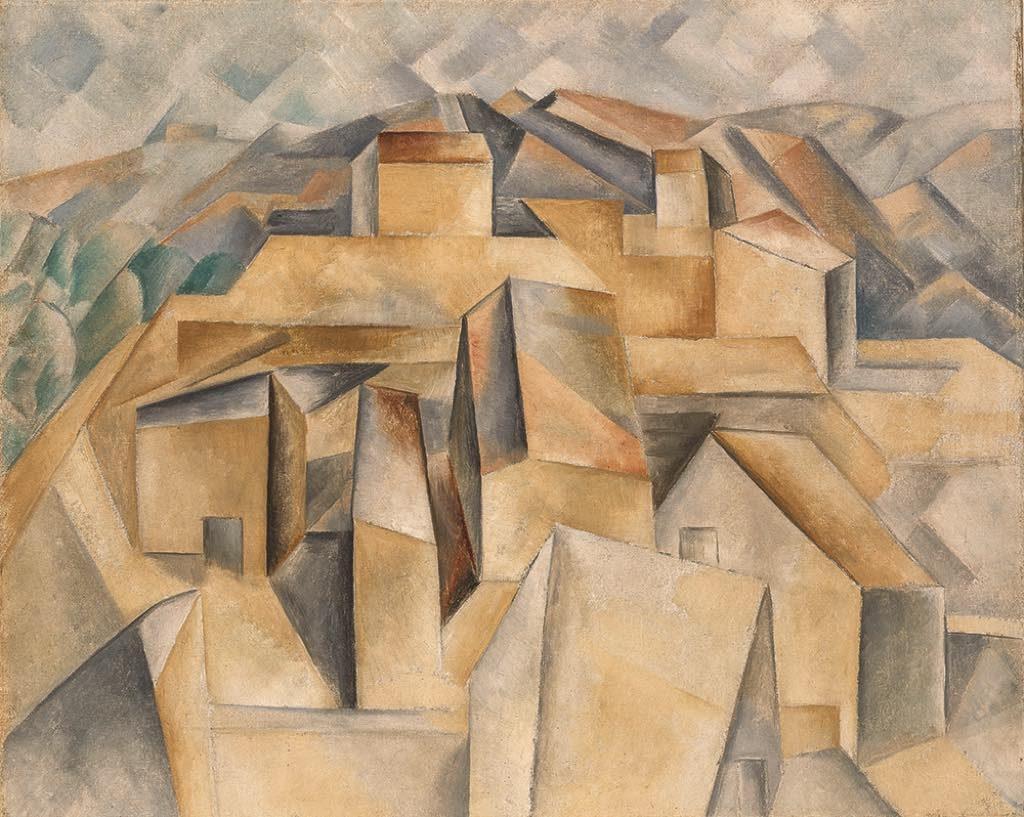 """""""Maisons sur la Colline, Horta de Ebro"""" (summer 1909), by Pablo Picasso"""