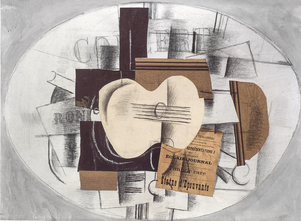 """""""La Guitare Statue d'Épouvante"""" (November 1913), by Georges Braque"""