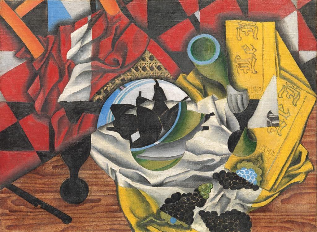 """""""Poires et Raisins sur une Table"""" (fall 1913), by Juan Gris"""