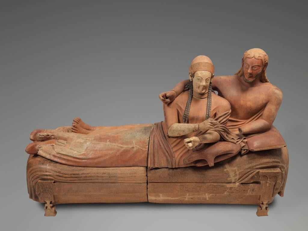 """""""Sarcophagus of the Spouses"""" (c. 520-510 B.C.E. © Musée du Louvre l Philippe Fuzeau"""