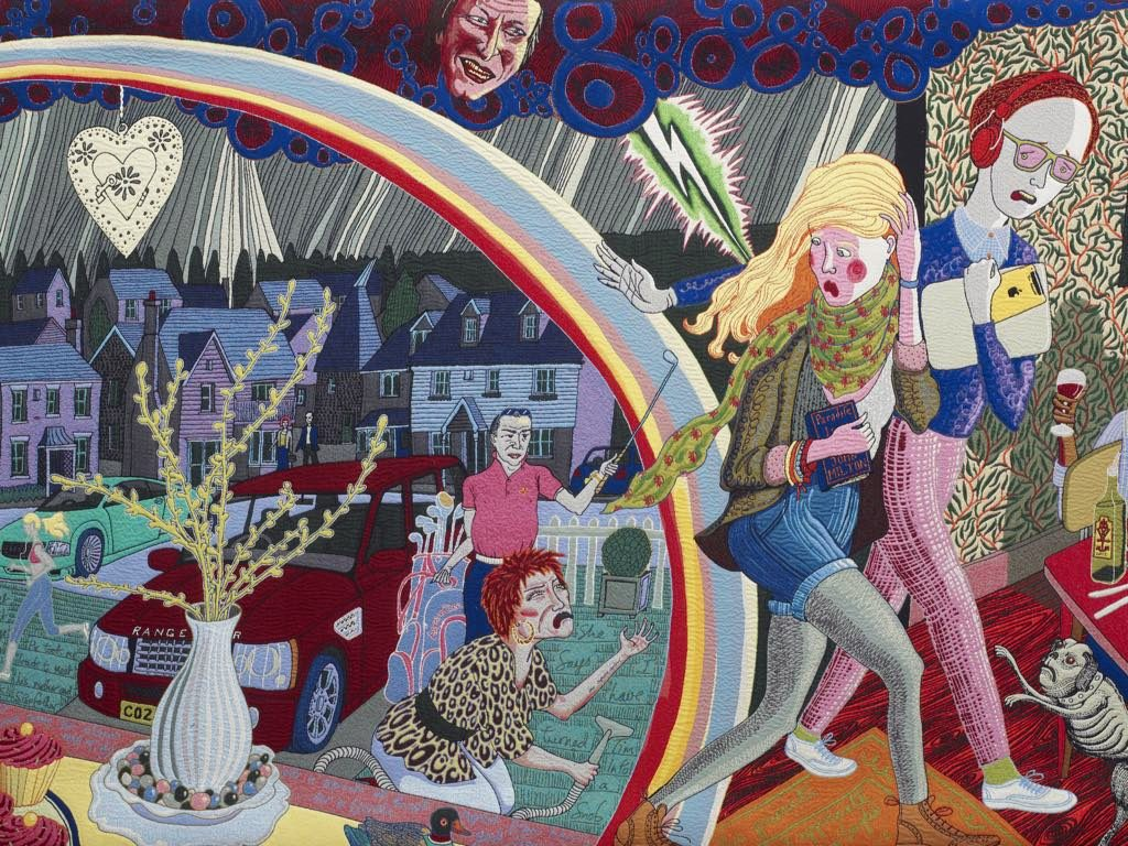 "Detail of ""Expulsion from Number 8 Eden Close"" (2012). © Grayson Perry."
