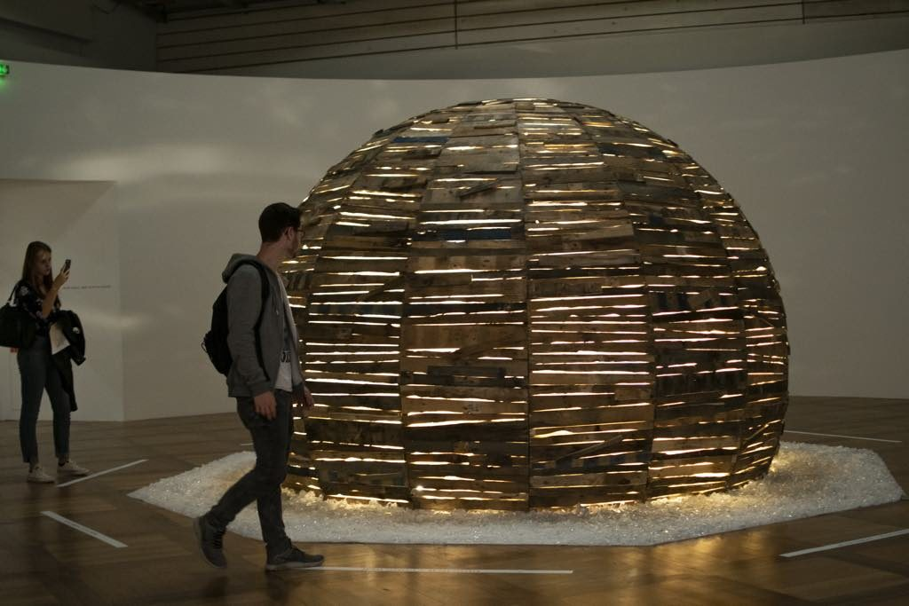 """Dome"" (2011), by Moataz Nasr, an exhibit in the ""Persona Grata"" show."