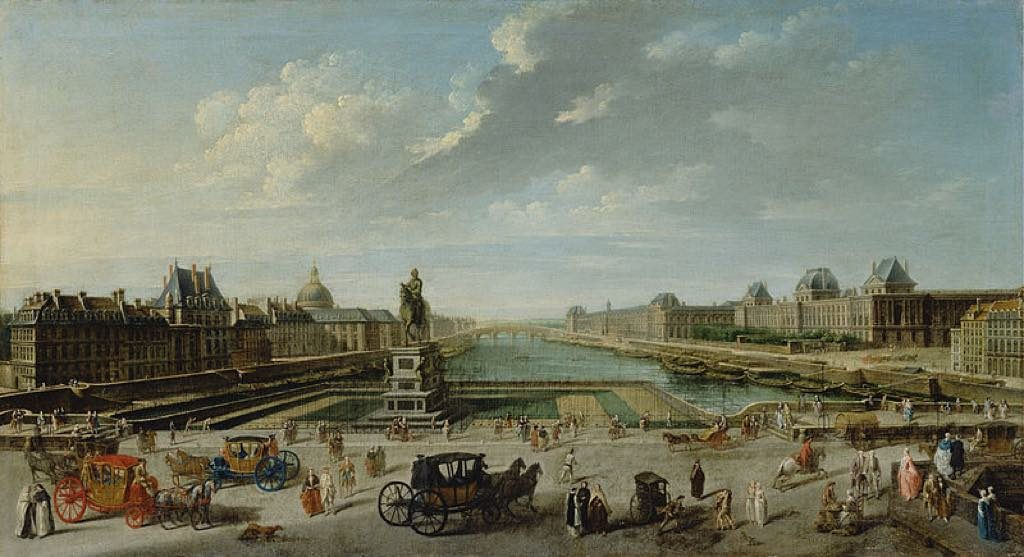 The Pont Neuf in 1763, by Nicolas-Jean-Baptiste Raguenet.
