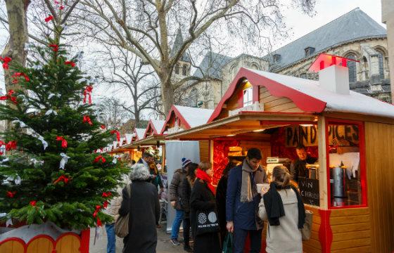 The Christmas market at Saint-Germain-des-Près.