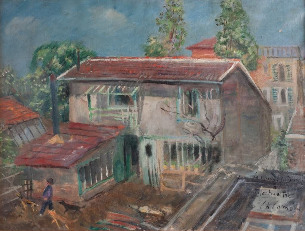 """Paco Durrio's House in Montmartre"" (1927), by Charles Camoin. Musée de Montmartre, collection Le Vieux Montmartre."