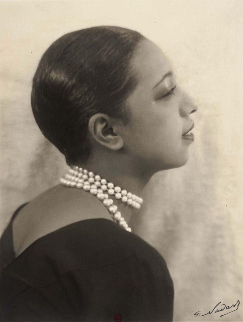 """""""Josephine Baker""""(c. 1930), by Paul Nadar. BnF, Département des Estampes et de la Photographie"""